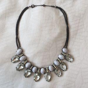 BaubleBar Teardrop Necklace. Blue/Hematite. EUC